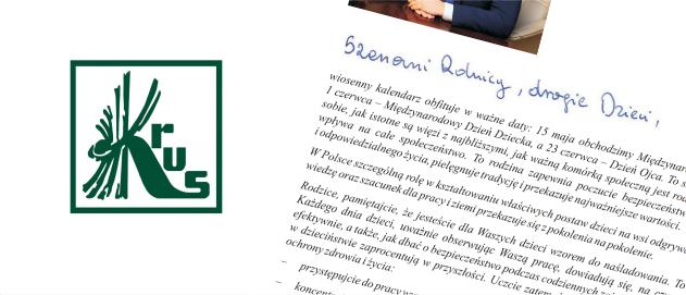 List Prezesa KRUS Do Rolników Idzieci
